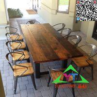 澳门大碗饭餐厅实木桌子餐桌椅行业领先