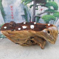 现货 功夫茶桌 根雕整体茶几 树根木雕茶台 实木鸡翅木茶海2747