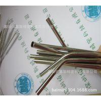 生产精美优质304不锈钢吸管 配套吸管刷 进口6*0.5*215不锈钢吸管
