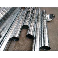 广东螺旋风管及配件系列通风噪声小-佛山江大专业制作镀锌风管
