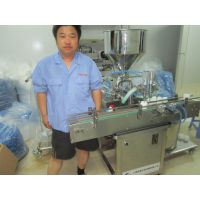 膏霜灌装机 上海半自动灌装设备 常压瓶装膏体机