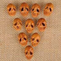 橄榄核核雕精品镂空骷髅手串橄榄核雕刻骷髅手串