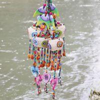 热销新款 创意民族风装饰品 云南民族风情东巴大鱼头草箩木牌挂件