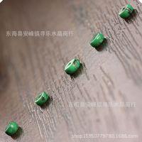 美国进口纯天然金线松绿松石DIY散珠配件配饰 串手链隔片配珠配件