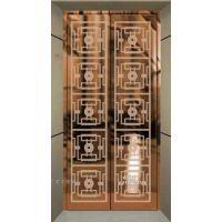 拉丝古铜色不锈钢电梯门板 茶色镜面不锈钢电梯厅门板 不锈钢古铜色镜面厅门厂家