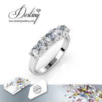 戴思妮 欧美戒指 采用施华洛世奇元素 时尚闪耀水晶戒指 女士饰品 厂家直销