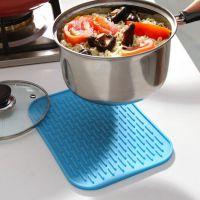 厂家定制 硅胶防烫隔热锅垫 方形防滑垫 餐具沥水垫 锅碗盘餐垫