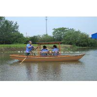 楚风木船厂家出售云南昆明旅游观光船中式手划木船景区服务类船
