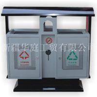 新疆垃圾桶/新疆户外塑木垃圾桶环保厂家直销/华庭果皮箱价格优惠