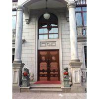 欧式别墅铜木门制作