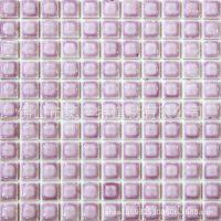 马赛克陶瓷 釉面亮光 凸面瓷砖 紫色情迷风格 卧室酒店装修 墙砖