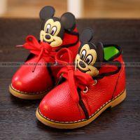 2015春款温州童鞋韩版男童女童新品真皮米奇儿童单鞋皮鞋一件代发