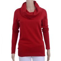 原单外贸剪标秋冬高领打底衫女装长袖毛衣堆堆领针织衫套头罩衫批
