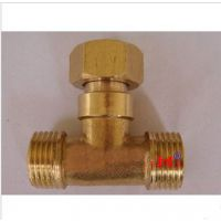 加厚4分外内外活接铜三通 热水器活接 内外牙三通活接头