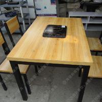 火锅桌餐桌 大理石电磁炉火锅桌椅 火锅城专用火锅烧烤桌子热卖