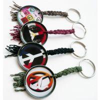 供应金属辫子绳钥匙扣挂件 特价优惠促销 饰品包包挂件 和平标志