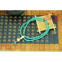 夏季热卖 女神配饰直径6mm颗天然绿松石砗磲莲花手链手串代理加盟