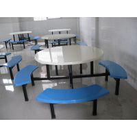 玻璃钢餐桌 圆桌面八人餐桌,玻璃钢餐桌椅
