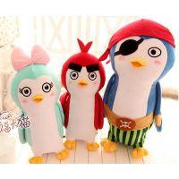 可爱创意 疯狂的企鹅 毛绒玩具公仔抱枕 情侣企鹅宝宝玩偶
