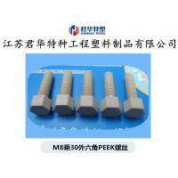供应 多种规格 peek螺丝 M2.5 M3 M5 M6 M16 系列库存 peek螺丝 注塑加工厂