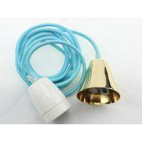 供应E27陶瓷灯头吊灯组件 E27高频陶瓷灯头 家居小吊灯 CE认证