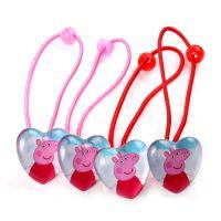 新款 Peppa pig 儿童发绳 粉红猪小妹 儿童饰品 速卖通热销