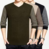 2014冬季新款男式貂绒衫拼色V领男士针织衫毛衣时尚流行毛衫批发