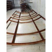 弧形窗,铝包木圆弧窗,优美立弧形窗户,铝包木门窗的油漆保养