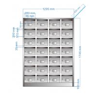 304不锈钢信箱 单位报纸杂志用 小区室内邮筒定制 学校书柜带钥匙