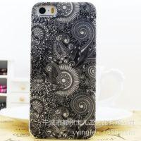 新款立体浮雕花纹苹果i4/5保护套小米诺基亚时尚款手机壳热销批发