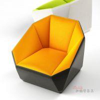 CLIP set sofa沙发 菱形多边形单人沙发 售楼处会所别墅家具定制