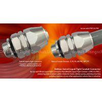 Delikon Aluminum Swivel Liquid Tight Connector for Metal Liquid Tight Conduit or Non Metallic Liquid Tight Conduit (LFMC & LFNC), and Coated Flexible Metal Conduit