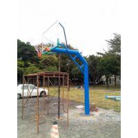 广东户外标准篮球架固定式成人球架可送货安装康腾体育