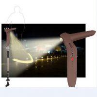 烨美厂家生产多功能超轻可照明带灯的老人智能拐杖