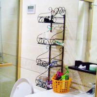 塬隆铁艺浴室置物架二三四五层架卫生间厕所收纳架壁挂置物架