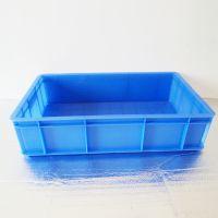 厂家供应657*405*150mm蓝色pe塑料食品周转箱批发结实耐用配送箱