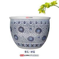 厂家生产青花瓷陶瓷大缸 定做乔迁礼品陶瓷大缸 景德镇陶瓷大缸