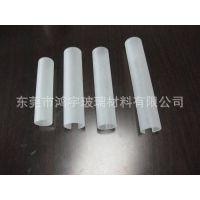 厂家生产供应开槽灯具喷砂管高硼硅玻璃 外喷砂高硼硅玻璃管