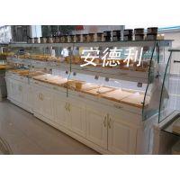 供应安德利R型面包展示柜 抽屉式面包柜 罗马柱面包柜 面包柜定做