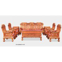 麒麟沙发-非洲黄花梨非花/缅甸花梨木缅花中式古典红木家具厂家