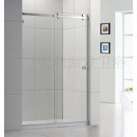 厂家供应卫浴洁具简易玻璃淋浴房不锈钢吊趟一梗一活