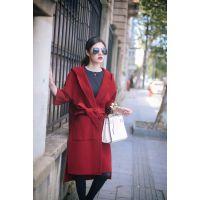 上海服装加工厂奉贤区服装加工厂女羊绒大衣纯手工贴牌加工【女装】女式风衣、大衣来图、来样、贴牌加工