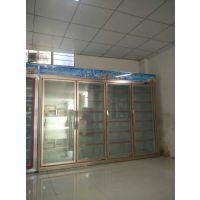 广州安德利冷柜 便利店饮料柜价格 五门分体玫瑰金饮料展示柜