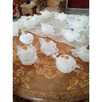 天然水晶茶壶水晶茶具雕刻茶壶