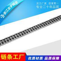 浙江龙宇厂家生产20B精密滚子传动输送工业链条 节距31.75车间流水线专用链条