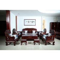 江西红木家具哪里买 港龙红木古典 红酸枝 金玉满堂沙发 年年红红木家具图片