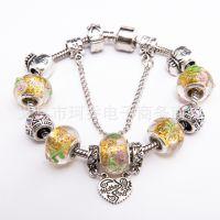 速卖通款热卖 琉璃手链饰品明星同款韩国流行大孔珠外贸货源首饰