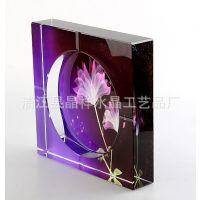 【***畅销】水晶烟灰缸 八角水晶烟灰缸 彩印烟灰缸 水晶酒店用品