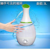 厂家直供 超声波静音加湿器 大容量花瓶加湿机 OEM 一件代发