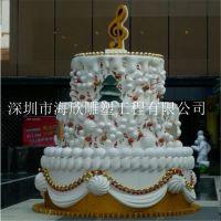 大型商业美陈皇冠蛋糕广场布置雕塑 玻璃钢仿真生日公主粉红主题蛋糕汉堡甜点摆设雕塑
